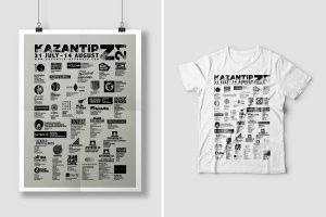 z21   kazantip republic   lineup poster & t-shirt
