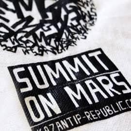 kazantip Summit on Mars tote bag